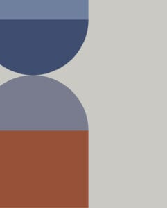 meeting in colors: damson, silver birch, bilberry, burnt orange, & fresh water